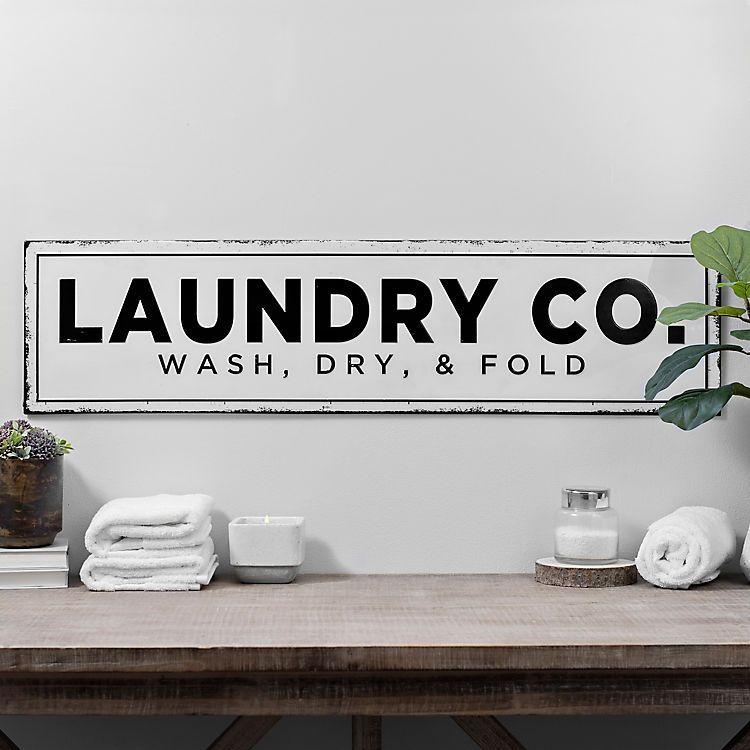 Laundry Co Metal Wall Plaque Laundry Room Decor Laundry Room Signs Metal Wall Plaques