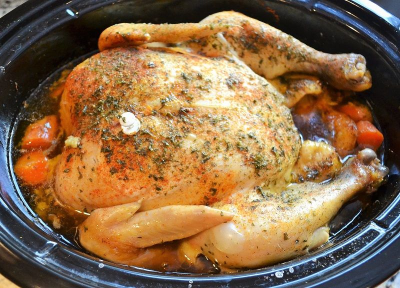 Whole Roaster Chicken In The Slow Cooker  Recipe  Slow -1148