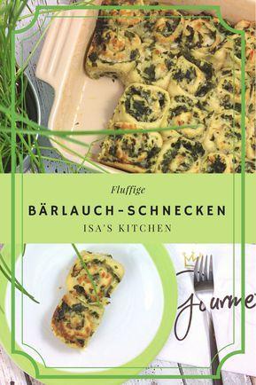 Bärlauch-Mozzarella-Schnecken
