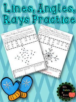 Geometry 4th Grade Practice (Lines and Angles) Color
