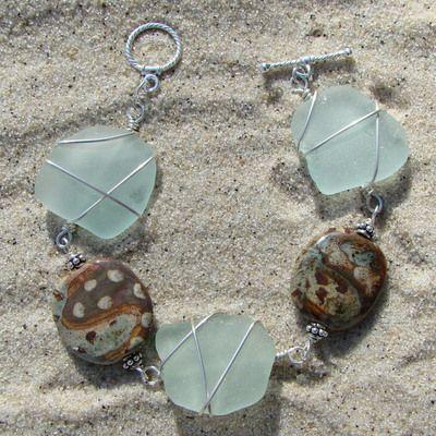 Sea Glass and Rocks.