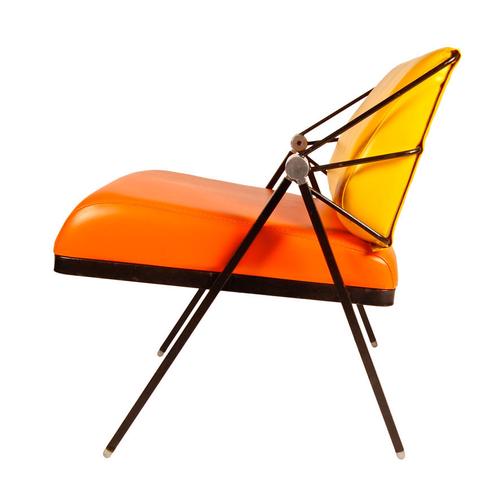 Best 1970S Orange Yellow Lounge Chair Design Gaston 400 x 300