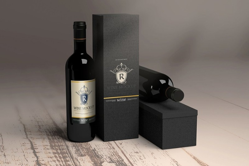 Download 15 Wine Box Mockup Packaging Psd Templates Texty Cafe Bottle Mockup Wine Bottle Wine
