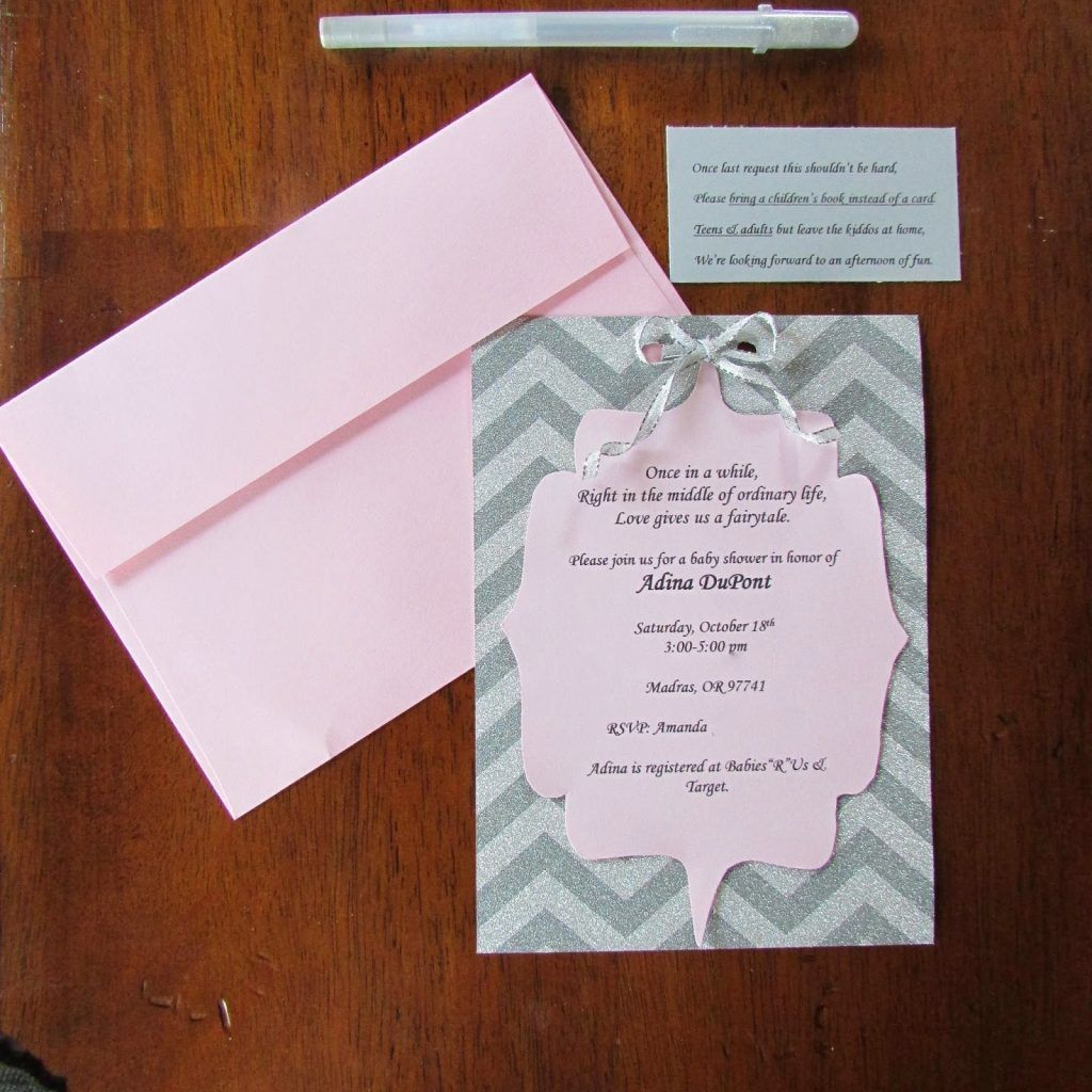 Exquisite Decoration Diy Baby Shower Invites Homely Design