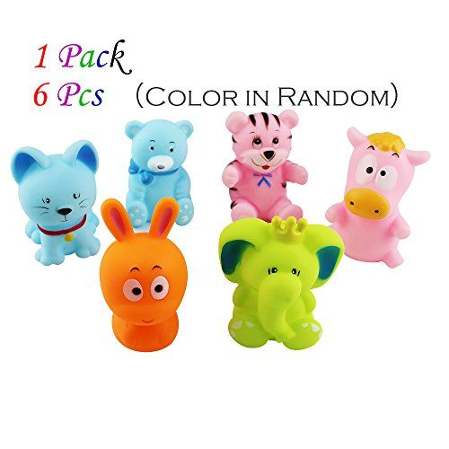 Cute Cartoon Animals Squeeze Sound Toys Play Water Squirtin
