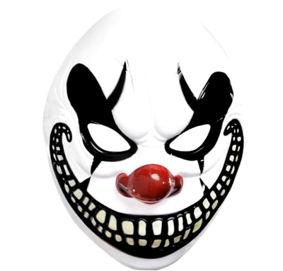 Don A Scary Clown Face For Frightful Fun This Scary Halloween Clown Mask Features A Creepy Clown Face With A Ho In 2020 Scary Clown Mask Scary Clown Face Scary Clowns