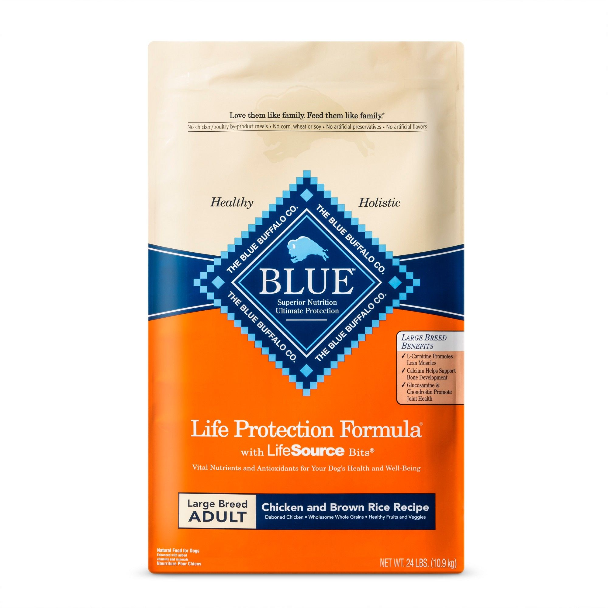 Blue Buffalo Adult Chicken Brown Rice Large Breed Dry Dog Food