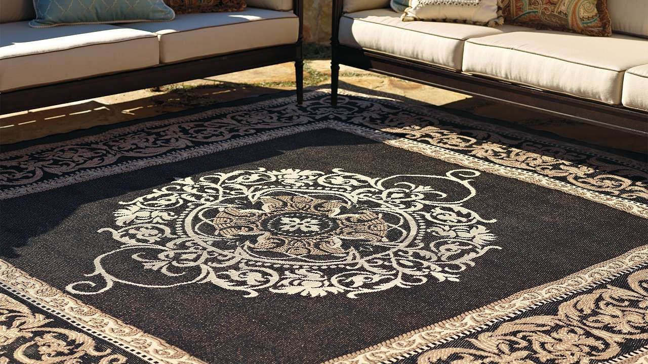Medallion Outdoor Rug Frontgate Rugs On Carpet Outdoor Carpet Minimalist Home Decor