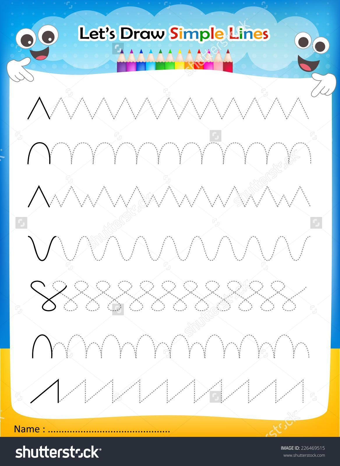 Image Result For Line Worksheet For Kindergarten