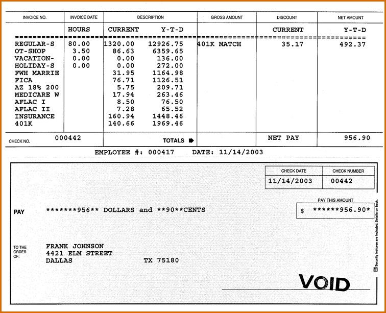 25 New Check Stub Template Printables in 2020 Payroll