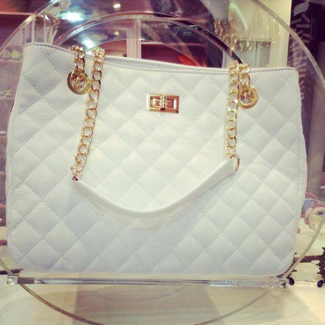 Borsa Chanel colore bianco