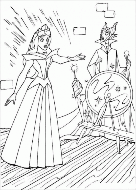 Princess Aurora and Wizards Coloring Pages | Disney\'s Princess ...
