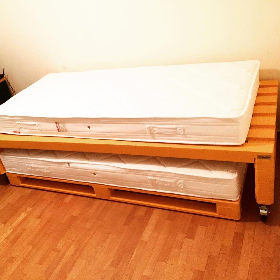 Ten Plus Pallet Bed Frame Ideas - Pallets Platform | Pallets | Pinterest