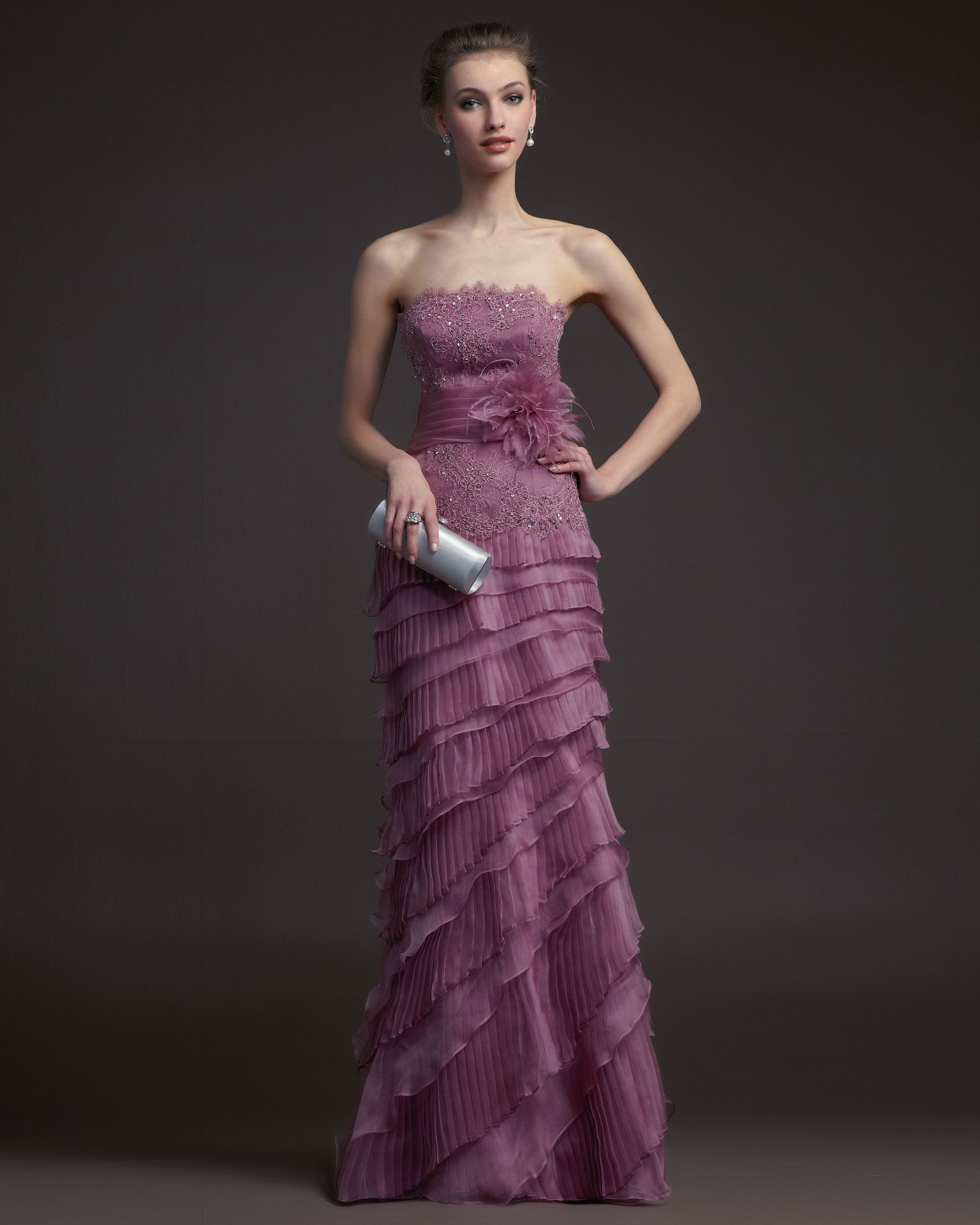 Cheap Charming Sheath/Column Strapless Beading&Sequins Lace ...