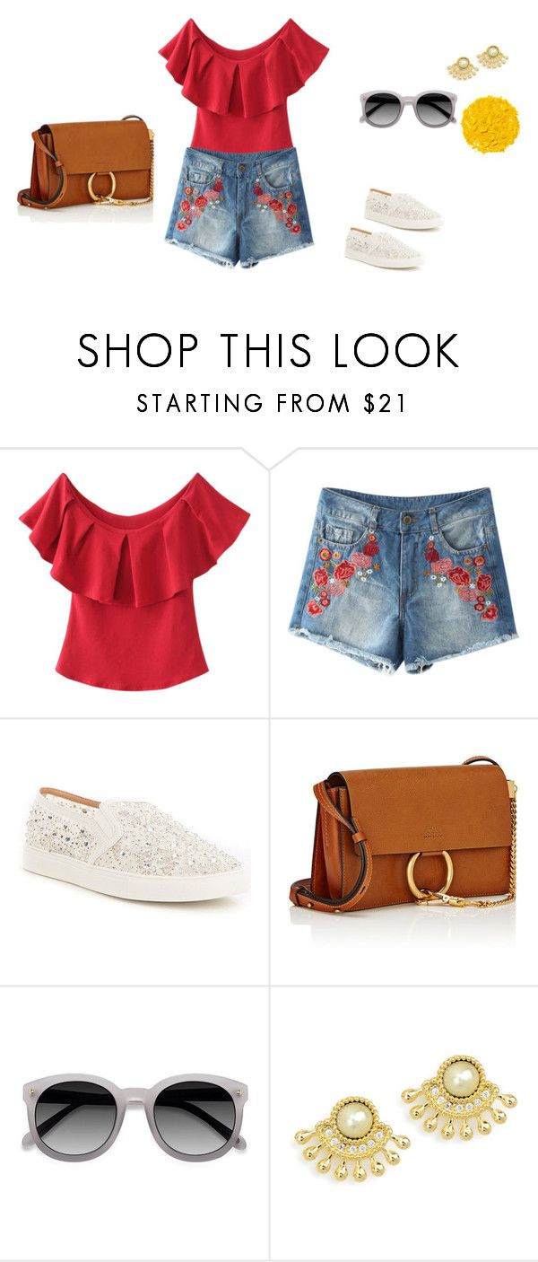 """picnic look"" by blackeye4 on Polyvore featuring Antonio Melani, Chloé and Illamasqua"