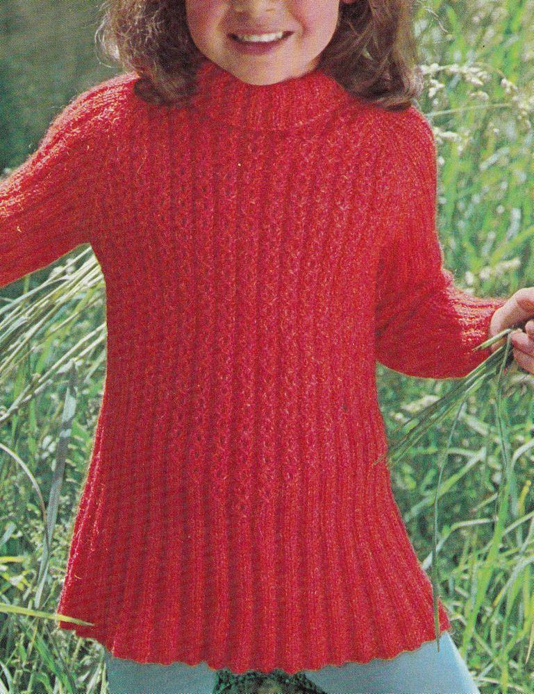 Vintage Knitting Pattern Instructions To Make A Child S Jumper