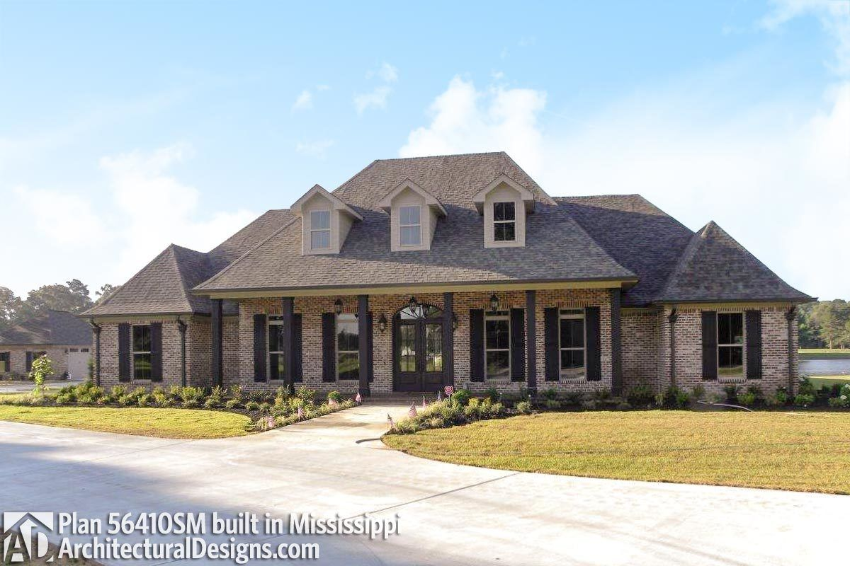 Plan 56410SM: Luxurious Acadian House Plan with Optional ...
