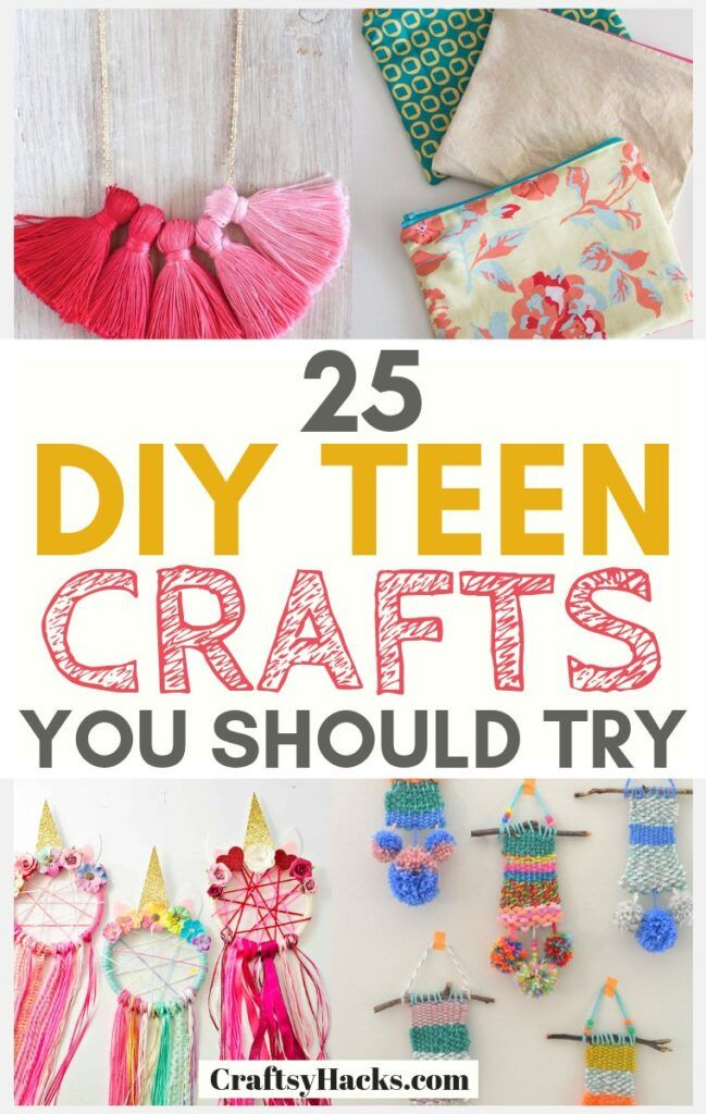 Try these DIY crafts for teen girls and get creative. These fun DIY for teens will take your creative projects to a whole new level. #crafts #diycrafts #diy