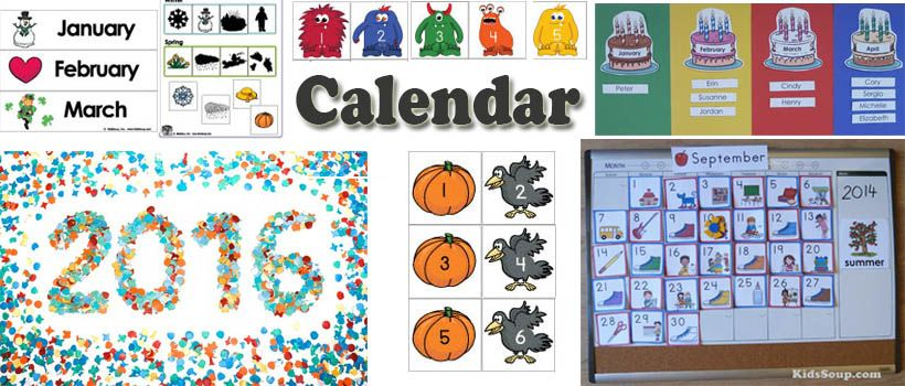 preschool and kindergarten calendar activities and crafts Daycare