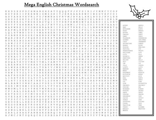 Mega English Christmas word search for KS3 | Christmas ...
