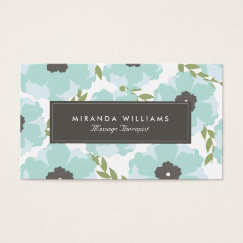 Elegant blue floral business cards groupon florist pinterest elegant blue floral business cards groupon reheart Gallery