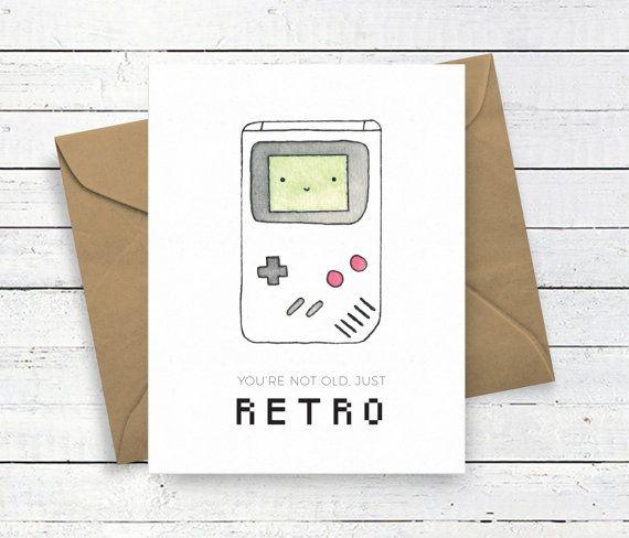 Retro Game Boy Birthday Card