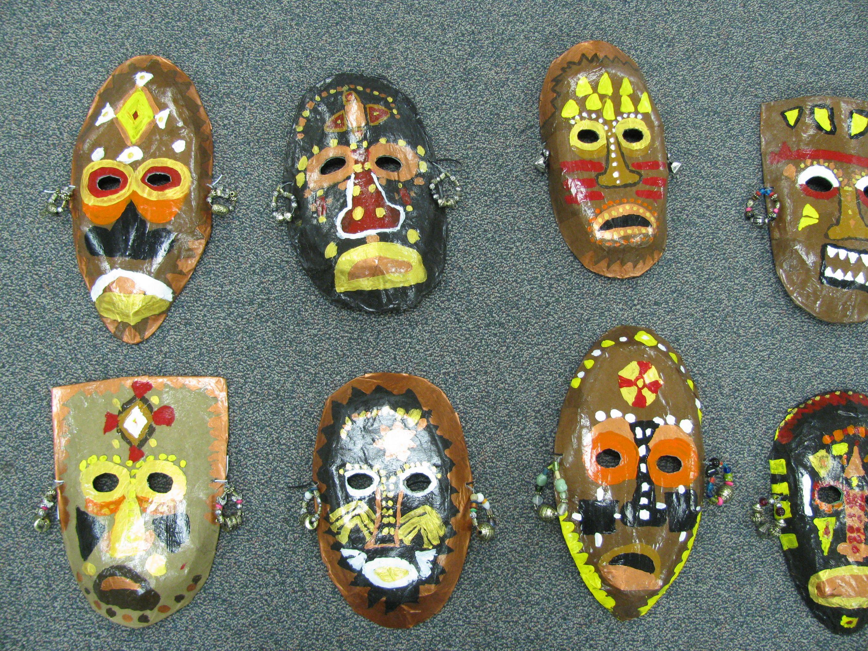 3rd Grade Paper Mache African Masks Lesson By Art Teacher