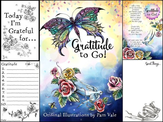 Gratitude To Go Coloring Book Guided Journal By PamVale On Etsy