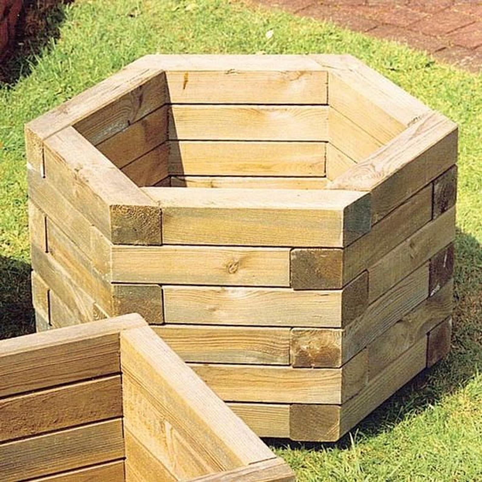 Hexagon Planter Outdoor Planter Indoor Planter Rustic 400 x 300