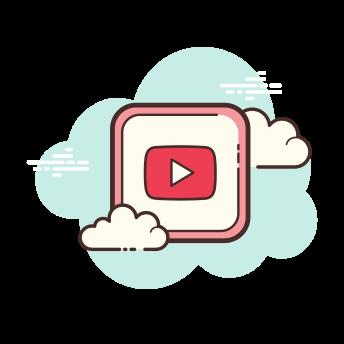Icons Social Media. Cloud.
