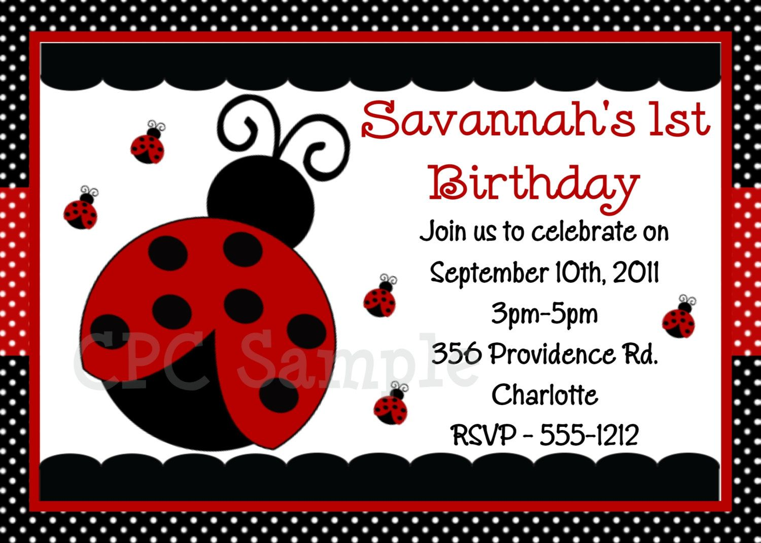 Ladybug birthday invitation ladybug birthday party invitation ladybug birthday invitation ladybug birthday party invitation printable ladybug invitations 1500 via etsy filmwisefo Choice Image