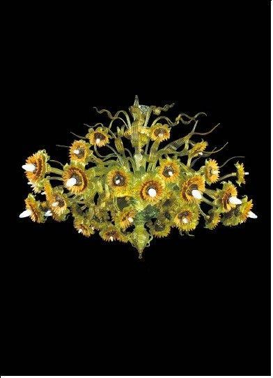 Image detail for -Murano Glass Flower Chandelier Gira - Murano Italian Glass Decor ...