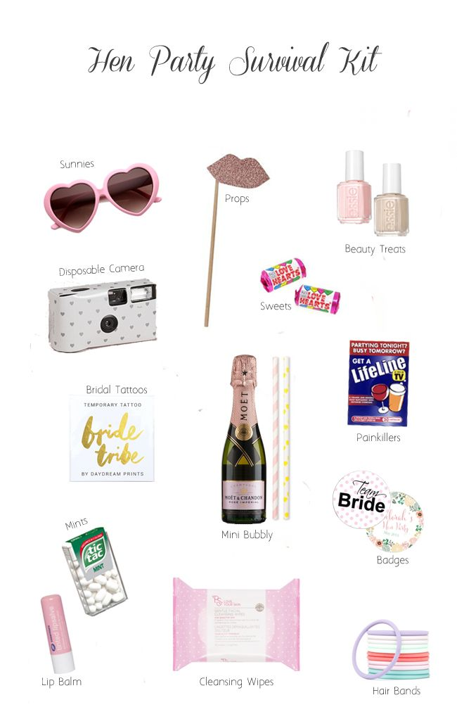 Hen Party Survival Kit Ideas