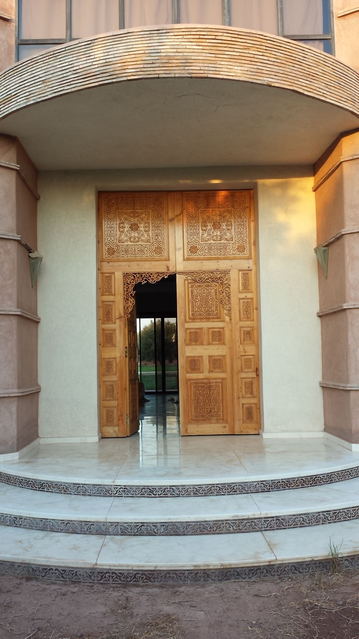Entrance To My Sisters New Modern Moroccan House In Marrakesh