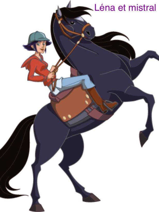 Lena Et Mistral Au Galo Horse Cartoon Disney Horses Horse Drawing