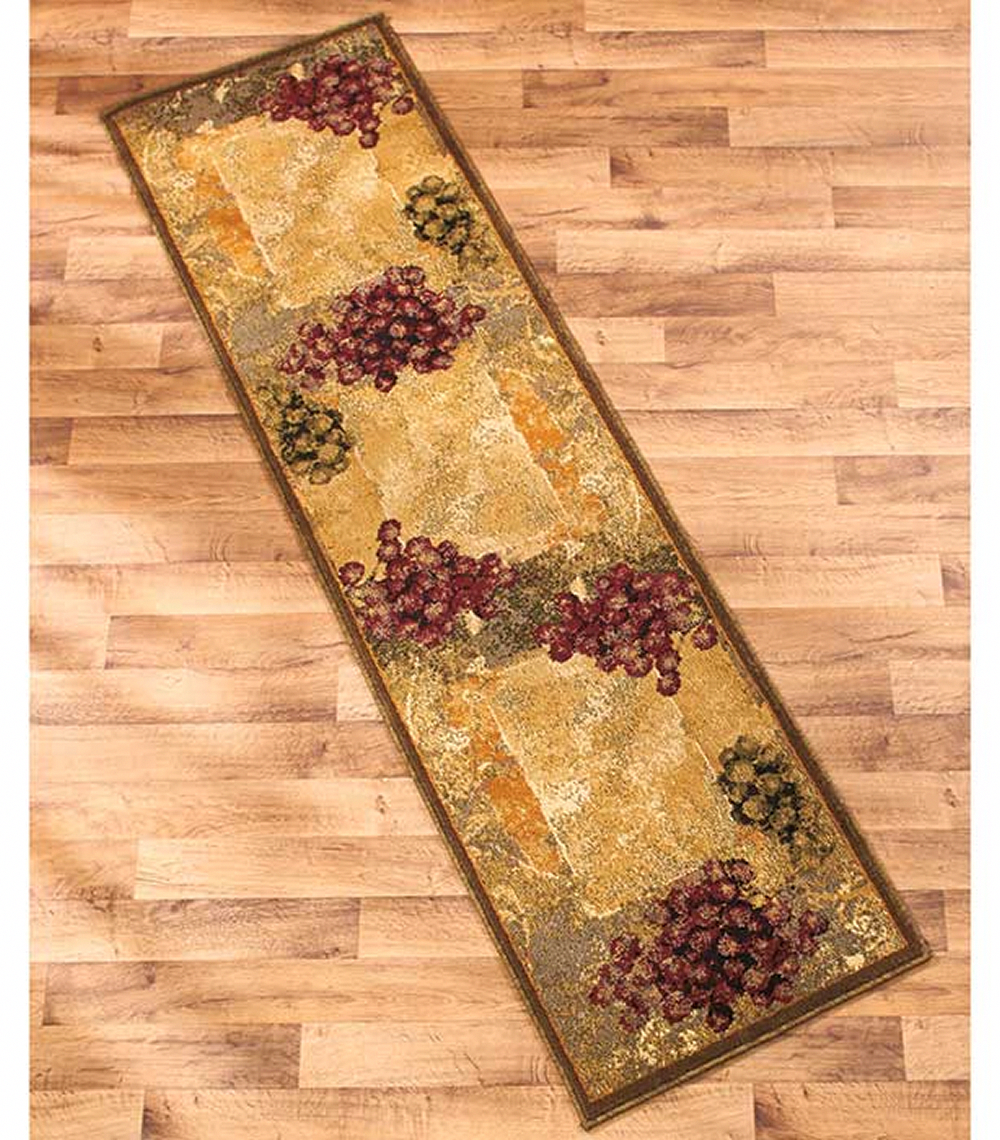 Vineyard Themed Decorative Kitchen Jute Accent Rug Runner Area Carpet Decor Countryhomedecoration Tuscan Decorating Grape Decor Tuscan Kitchen