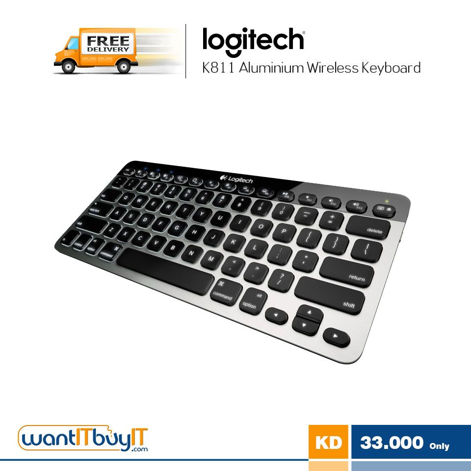 b1ad7c57301 Logitech Bluetooth Easy-Switch K811 Keyboard for Mac, iPad, iPhone ...