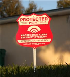 Home Security Yard Signs On Posts Home Alarm Security - Window stickers for home security