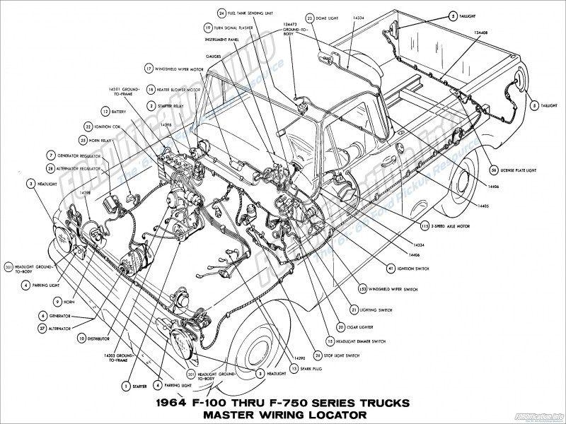 [SCHEMATICS_4FR]  Pin en Autos | 1966 Ford F100 Wiring Schematic |  | Pinterest
