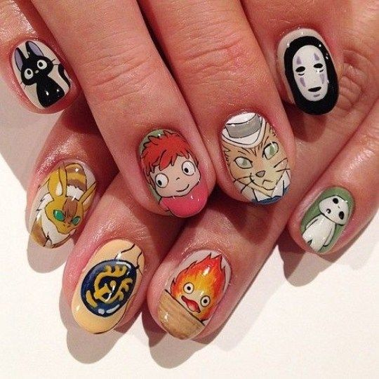 Anime Nail Arts - Urban Gems #koreannailart