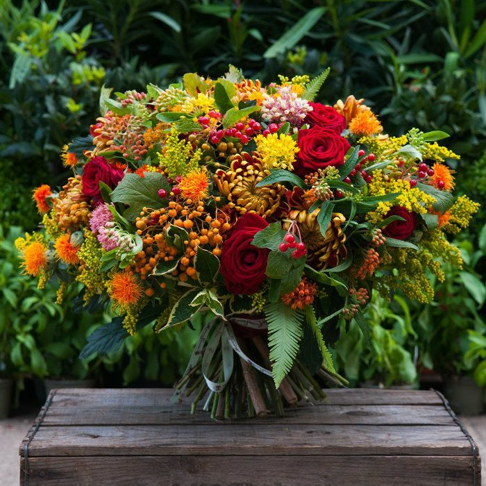 Indian Summer Bouquet - Moyses Stevens Flowers   hand tied ...