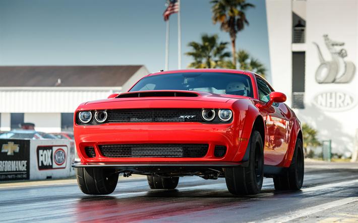 Download Wallpapers Dodge Challenger Srt Demon 2018 Cars