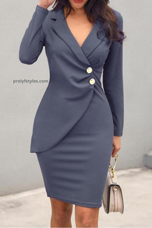 Shop Formal Bodycon Work Dress Online From Prolyfstyles Com In 2020 Casual Work Dresses Blazer Dress Elegant Midi Dresses