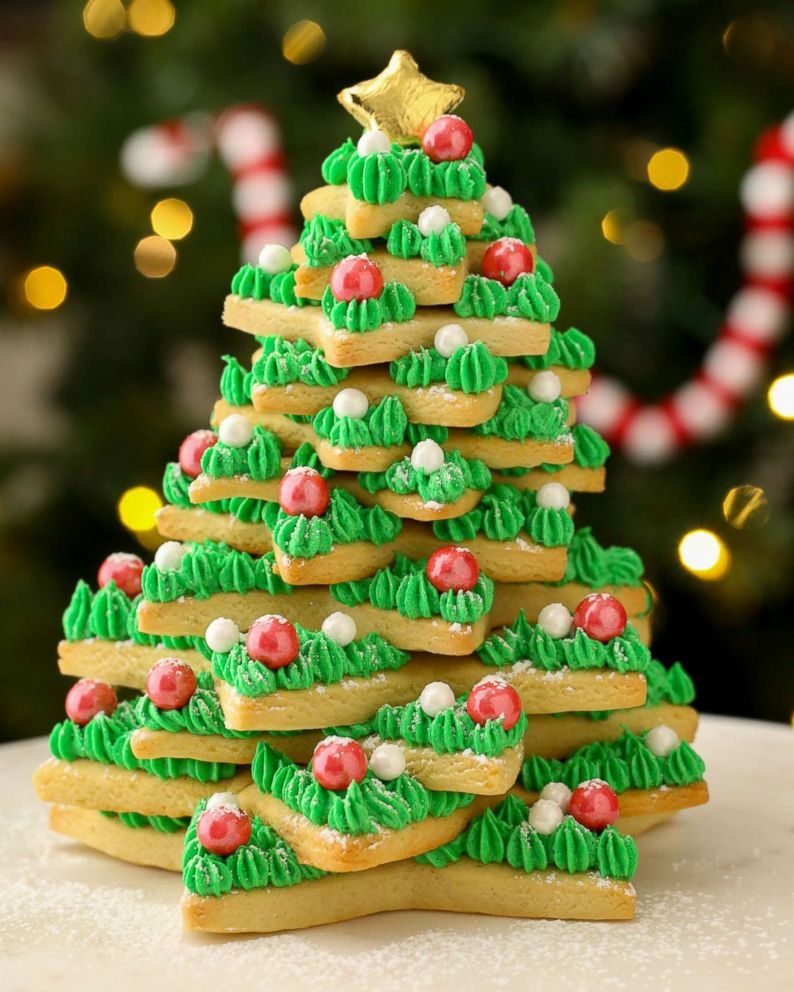 How To Make This Epic Christmas Sugar Cookie Tree Cookies