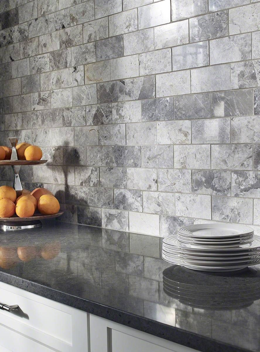 Tundra Gray Subway Tile 3x6 Kitchen Backsplash Designs Unique