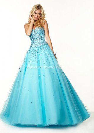 2015 Freeze Mori Lee 97034 Beaded Embellished Corset Ball Gown