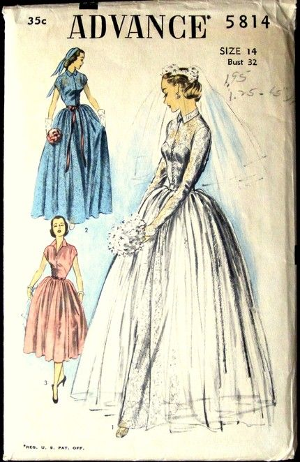 Vintage wedding patterns | Wedding dress patterns, Dress patterns ...
