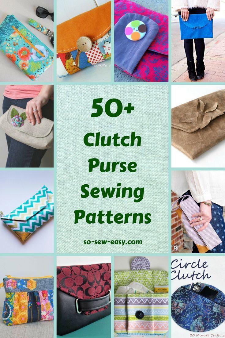 50+ FREE Clutch Purse Sewing Patterns | Taschen nähen, Anleitungen ...