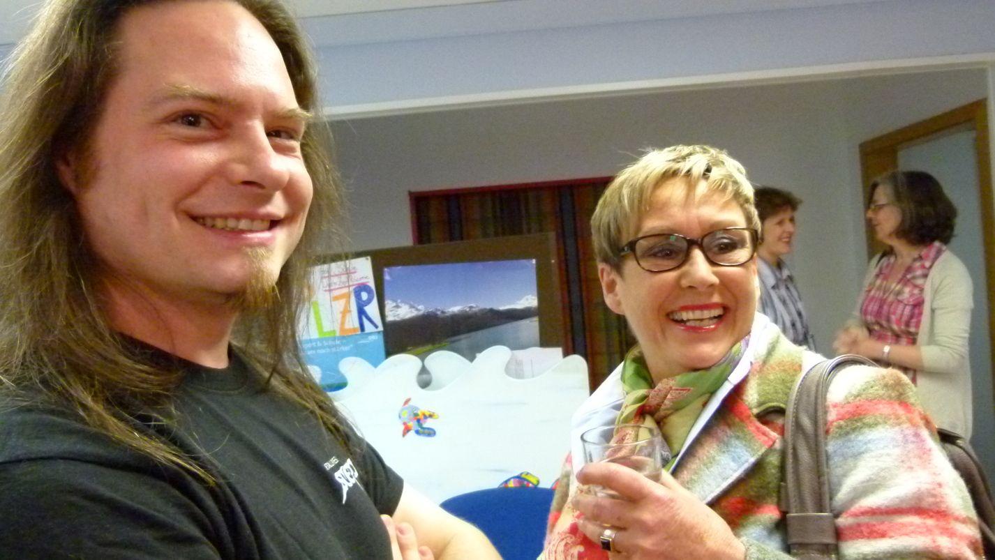 Tim Scholl und Sigi Jakob, (noch) besser bekannt als Networking Lady