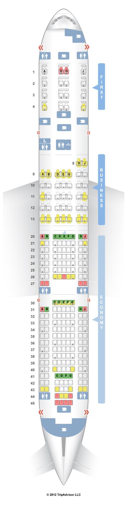 Seatguru Seat Map American Airlines Boeing 777 200 777